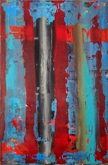 Golgotha (Peter Wachtmeister) Tags: artinformel modernart artbrut acrylicpaint abstract popart surrealismus surrealism illustrationen phantastic hanspeterwachtmeister