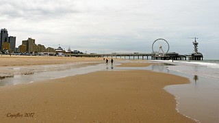 Scheveningen on a cold summerday.