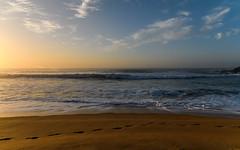 Sunrise Seascape (Merrillie) Tags: daybreak shoreline sand landscape killcarebeach australia surf coastal clouds newsouthwales waves centralcoast nsw water beach ocean longexposure rocks sea photography waterscape outdoors seascape dawn coast nature sky