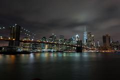 Night in NYC (Tamoadamo1) Tags: manhattan worldtradecenter brooklynbridge night cloudy lights tamoadamo