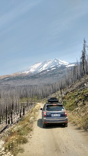 Driving down from the Mt. Adams Cold Springs Campground