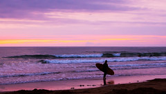 Late night Surf. (robdando) Tags: shoreline seashore coast shore coastline sand beach surf girl sundown dusk evening night nightfall twilight sunset sun waves breakers rollers sky sprays