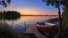 Autumn eve (Antti Tassberg) Tags: 15mm pitkäjärvi fisheye laaksolahti hdr syksy vene serene järvi auringonlasku aurinko autumn boat fall lake prime sun sundown sunset espoo