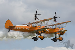 Breitling wing walkers (Newdawn images) Tags: breitlingwingwalkers breitling wingwalkers boeingstearman n74189 aviation aircraft airplane aeroplane airshow airdisplay plane shuttleworthcollection shuttleworth oldwarden biplane canoneos5dmarkiii canonef500mmf4lisusm