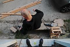 Carpenter (lauttone1) Tags: salerno giovi campania abandoned junkie precious canon 700d eos street streetphotography italia italy urbex amateur work wood drill saw point view pov