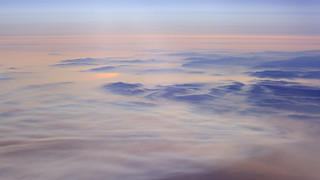 Aerial Views - Plumas National Forest Covered by Smoke from Wildfires
