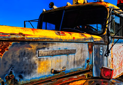 Autocar-Diesel (Dalliance with Light (Andy Farmer)) Tags: truck dilapidated vintage antique towtruck saturated old cranburytownship newjersey unitedstates us