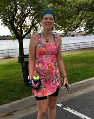 Mary at Hains Point (Mr.TinDC) Tags: people friends cyclists dc washingtondc hainspoint running