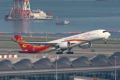 B-LGA A350-900 Hong Kong Airlines HKG (ColinParker777) Tags: hka hx crk hong kong airlines airways bauhinia airbus a350 350 359 a350900 rolls royce trent xwb new departure takeoff chek lap kok vhhh hkg plane fly flying flight airplane aircraft aviation blga terminal canon 7d 7d2 7dii 7dmkii 7dmk2 200400 l lens pro zoom telephoto