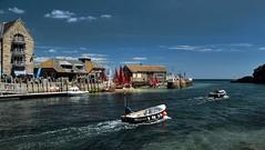 Heading Out (suerowlands2013) Tags: looe riverlooe eastcornwall fishingboats sunshine summer bluesky holidaydestination