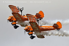 1C5A3350 Wingwalkers (photozone72) Tags: scampton airshows aircraft airshow aviation canon canon7dmk2 canon100400f4556lii 7dmk2 breitlingwingwalkers breitling stearman boeing biplane props wingwalkers