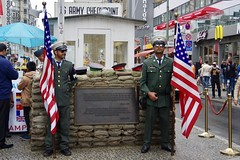 Checkpoint Charlie (Dave Hamster) Tags: berlin germany berlinwall wall checkpointcharlie checkpoint border bordercrossing usflag starsandstrips gi americansoldier soldier