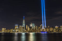 We remember (Octal Photo) Tags: 500px river marina skyline quay waterfront bay twin towers sands helix bridge inner harbor erasmusbrug merlion hudson 911 bayfront empty sky memorial new york liberty state park city architecture we remember