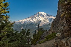 Hats Off to Mt. Rainier (Philip Kuntz) Tags: mtrainier pinnaclepeak pinnaclepeaktrail trails hikes mtrainiernationalpark washington tilleyhat