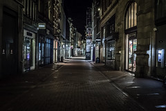 Quiet street (PhredKH) Tags: canoneos5dmarkiii 2470mm ef2470mmf4lisusm outdoorphotography streetphotography streetscene streetsofamsterdam amsterdamstreets nightphotography nightscene nightpictures emptystreet afterdark canoneos5dmkiii