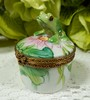 French Chamart Limoges Porcelain Peint Main Trinket Box Frog Lily Pad Bee Clasp (Donna's Collectables) Tags: french chamart limoges porcelain peint main trinket box frog lily pad bee clasp