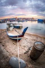 Sunrise (Ah Wei (Lung Wei)) Tags: ahweilungwei batumaung clouds fishermenwharf fisheye georgetown georgetownpenang landscape longexposure malaysia nikon nikond750 penang penangisland penangsecondbridge pulaupinang sampohtemple samyang samyang12mmf28edasncsfisheye samyang12mmf28 seascape seashore secondpenangbridge shore sunrise sunrises boats