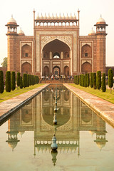 Reflections (stevenp74) Tags: sony a7 india agra rajasthan reflection architecture water taj mahal entrance colour zeiss 8 55mm f18 full frame