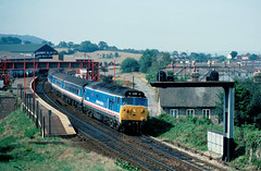 And one from an earlier time.............50048 Dauntless 10-20 Exeter-Waterloo Honiton 05-08-1989 (the.chair) Tags: 50048 dauntless 1020 exeterwaterloo honiton aug 1989