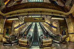 Golden hour (Alex Chilli) Tags: london underground tube station
