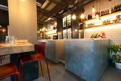 _DSC2062 (fdpdesign) Tags: pizzamaria pizzeria genova viacecchi foce italia italy design nikon d800 d200 furniture shopdesign industrial lampade arredo arredamento legno ferro abete tavoli sedie locali