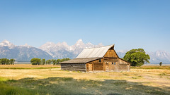 T.A. Moulton Barn on Mormon Row (Chuck - PhotosbyMCH) Tags: photosbymch landscape barn mountains tamoultonbarn mormonrow grandtetonnationalpark wyoming usa canon 5dmkiv 2017 glacier prairie historicalsite nationalparkservice outdoors
