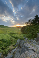 Bradgate Park Sunset (John__Hull) Tags: bradgate park newtownlinford leicestershire charnwood ferns bracken outcrop nikon d3200 sigma 1020mm sunset sun clouds uk england breath taking landscapes