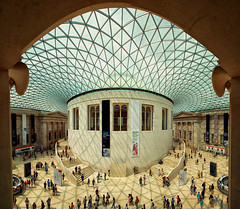 The Great Court (Pat Charles) Tags: britishmuseum london england greatcourt queenelizabethiigreatcourt architecture interior inside indoor panorama pano panoramic unitedkingdom uk nikon people travel tourism museum entrance hall shadows symmetry 1001nights 1001nightsmagiccity
