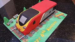 Virgin Train (Victorious_Sponge) Tags: virgin train cake birthday red boys 6th 7th 8th 9th 10th