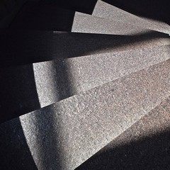 Stairs No 6 (llawsonellis) Tags: shadows stairs repetition lightandshadows lines linear rhythms abstract abstraction crop selection abstractures architecture interior urban square squareformat nikon nikond5300 black grey concrete