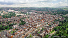 Glodwick, Greenacres and beyond.... (RP_Aerial) Tags: oldham england unitedkingdom gb glodwick greenacres terraced houses brick urban cotton mills