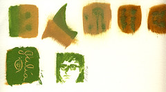 2016.05.18 Mini Me in Green (scan whole page) (Julia L. Kay) Tags: juliakay julialkay julia kay artist artista artiste künstler art kunst peinture dessin arte woman female sanfrancisco san francisco sketch dibujo daily everyday 365 oil paint oilpaint oilpainting painting paper