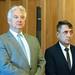 Semjén Zsolt miniszterelnök-helyettes, a KDNP elnöke és Potápi Árpád János, a Miniszterelnökség nemzetpolitikáért felelős államtitkára