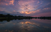 Tonights quick sunset.... (Kevin Povenz Thanks for the 3,800,000 views) Tags: 2017 august kevinpovenz westmichigan michigan ottawa ottawacounty ottawacountyparks jenison maplewoodpark sunset dusk evening reflection pond lake water clouds blue canon7dmarkii sigma1020
