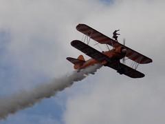 Breitling Wing Walkers (Kylie Stevens) Tags: bigginhill20thaugust2017 avgeeks airshow airshows bigginhill aerobatics aerobaticdisplayteam displayteam breitling breitlingteam breitlingwingwalkers wingwalkers stearmen biplane