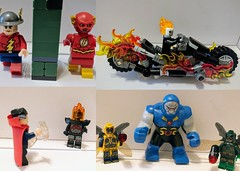 Flash of two worlds Ghost Rider (moc bike) Doctor Strange do mama parademon Darkside (Letgoofmylego) Tags: marvelcomic dccomics legomarvelsuperhero minifigures migifig flash ghostrider parademon darkseid drstrange