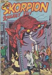 Hulk 17 / Seite 22 (Der Skorpion schlägt zu! / splash panel) (micky the pixel) Tags: comics comic heft marvel klausrechtverlag jackkirby skorpion mutation riesenskorpion