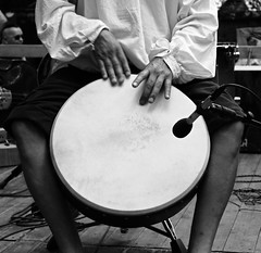 Music.. (LamiaDeTenebris) Tags: music musik bw sw blackandwhite schwarzundweis schwarzweis blackwhite stage bühne concert konzert medieval mittelalter augsburg bavaria bayern germany deutschland drum city stadt park