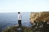 The boy on the cliff (Nita Break) Tags: boy men moment cliff landscape sea infinity mountain sky views acantilado hombre paisaje chico personas people