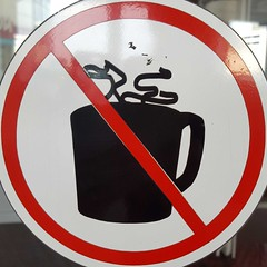 Circled no hot drinks (sq#0610) (Navi-Gator) Tags: squaredcircle circle nosign drinks red