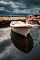 Morning after a stormy night (Croosterpix) Tags: morning boat sea clouds sky water croatia travel sony a7r nikkor1835