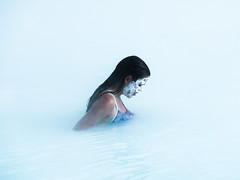 The Blue Lagoon (Feldore) Tags: blue lagoon iceland swim swimming woman steam steamy water facepack reykjavik