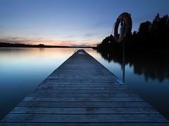 To infinity... and beyond! (Jarno Nurminen) Tags: longexposure finland espoo laurinlahti pier dock jetty shore sea olympusinspired olympus filter nisi bluehour twilight