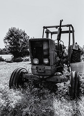 Seen better days (David Feuerhelm) Tags: outdoors nikkor monochrome blackandwhite bw contrast old machine machinery wideangle wimpolehall nationaltrust cambridgeshire nikon d750 silverefex 2470mmf28vr farming agriculture