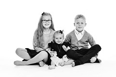 Siblings (LalliSig) Tags: studio portrait portraiture people kids children iceland white backround