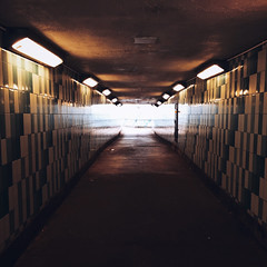 Shine (Olly Denton) Tags: tunnel shine light lighting reflection tiles patterns vanishingpoints perspective dark architecture architecturelovers architecturalphotography architecturephotography iphone iphone6 6 vsco vscocam vscolondon vscouk ios apple mac shotoniphone greatwestroad chiswick london uk