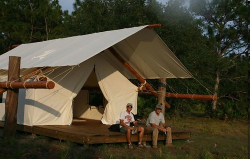 glamor camping tent