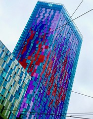 Croydon Crayon (pieterleroux3) Tags: multicolour architecture streetphotography urban cityscape iphoneography shotoniphone mobilephotography england unitedkingdom london saffrontower crayon croydon