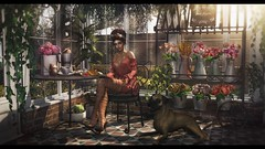 Greenhouse café (Hara ♥) Tags: kumuckyhara secondlife thearcade truth ison empire ariskea applefall jian mishmish chicchica whatnext halfdeer soy