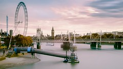 Westminster from Waterloo (Amer Ramzan) Tags: london city cityscape architecture longexposure buildings skyline sky londoneye travel tourism bridge pier colourful colour color